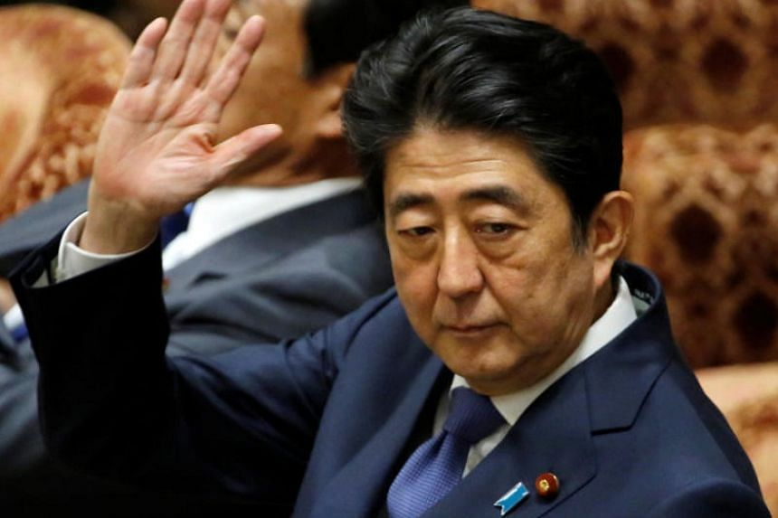 Japan's Prime Minister Shinzo Abe attends a lower house budget committee session at the parliament in Tokyo, Japan, on July 24, 2017.