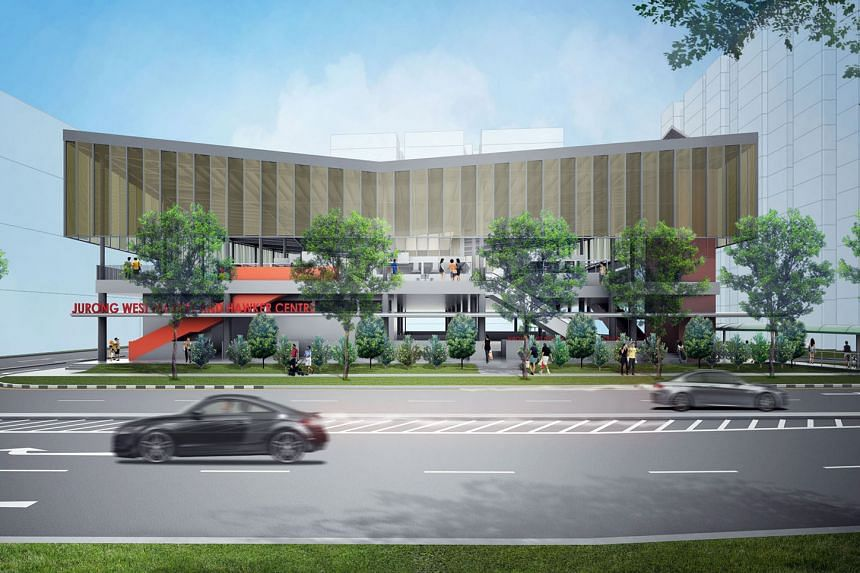 The Jurong West Street 61 hawker centre and market opening in October will have 34 cooked food stalls, 14 market stalls and about 500 seats. There will also be self-payment kiosks, among other smart features.