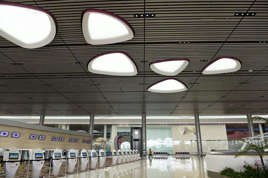 T4 is built on a plot of land that was originally occupied by the Budget Terminal, which was demolished on Sept 25, 2012, to make way for a larger, full-service passenger building that caters to Changi Airport's growing traffic.