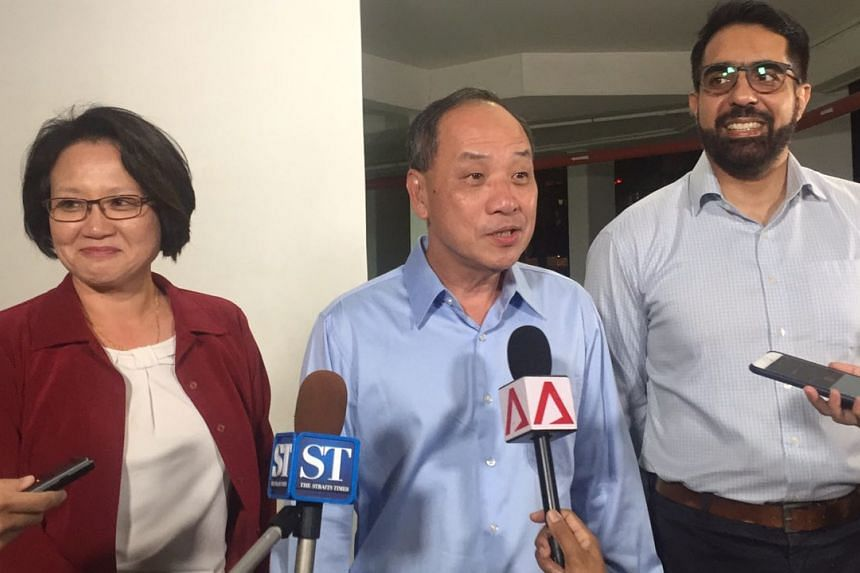 Speaking to reporters on the AHTC lawsuit on Wednesday (July 26), Aljunied GRC MPs Low Thia Khiang, Sylvia Lim and Pritam Singh said their conscience was clear and that they had acted in good faith.