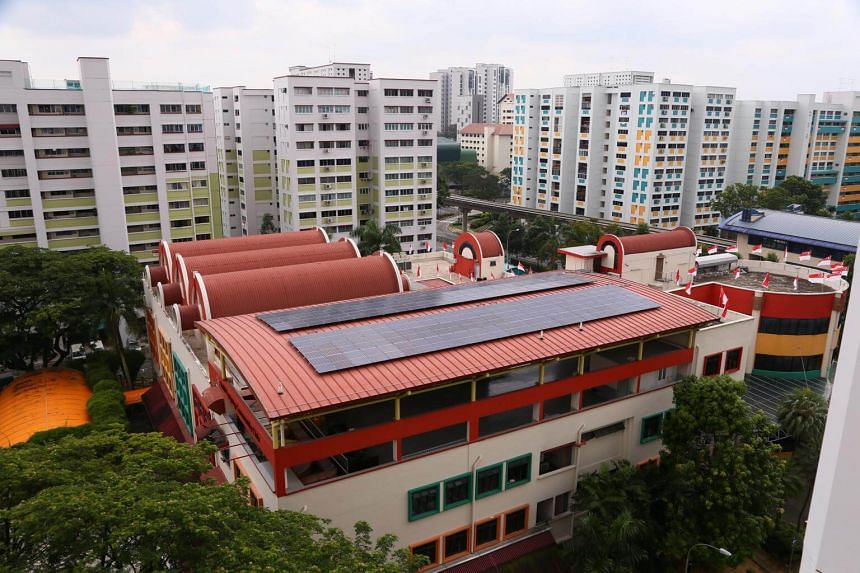 About 150 solar panels and more than 50 sensors to monitor energy usage have been installed at Bukit Panjang Community Club.