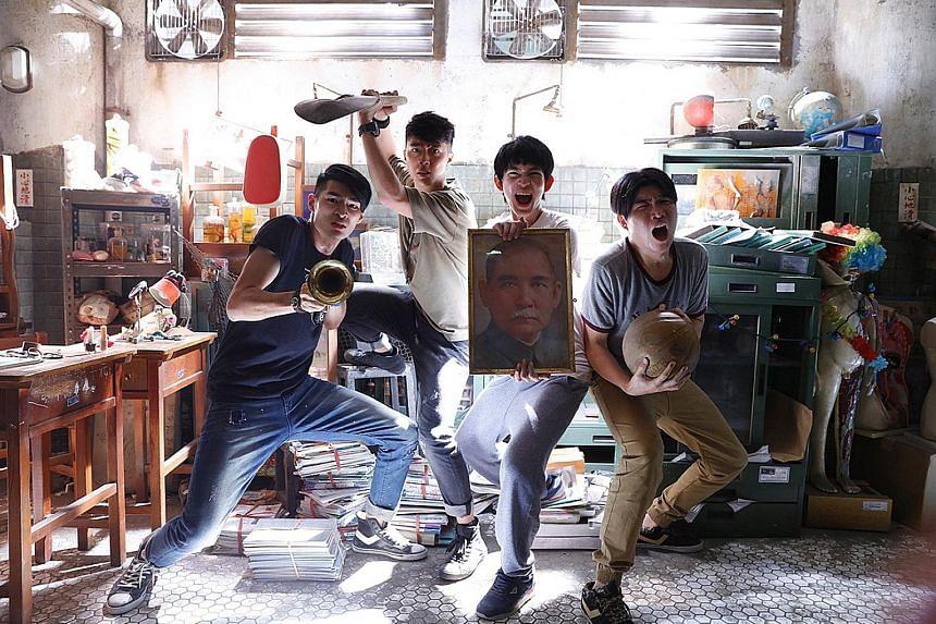Mon Mon Mon Monsters stars (above, from left) James Lai, Kent Tsai, Deng Yu-kai and Tao Meng.