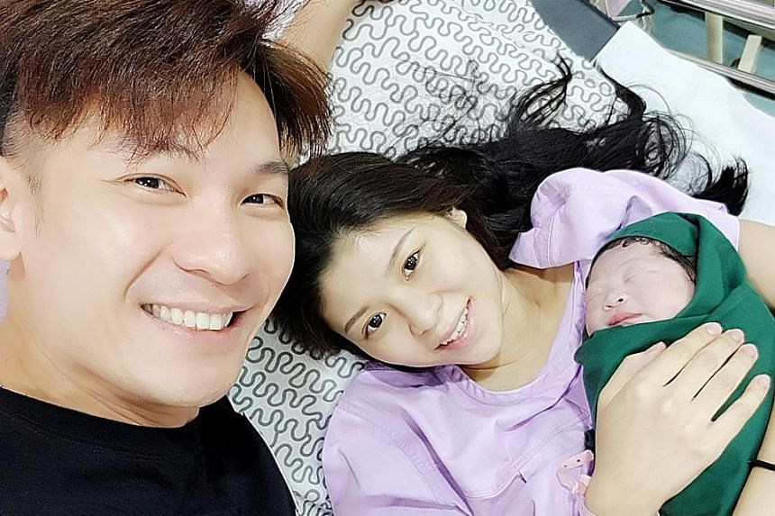 Channel 8 actor Shaun Chen, 38, welcomed his second child, also a daughter, yesterday morning in Alor Setar. A photo of him with his wife Celine, a former beautician who is in her 20s, and their baby was posted on Instagram by @the_ celebrity agency.