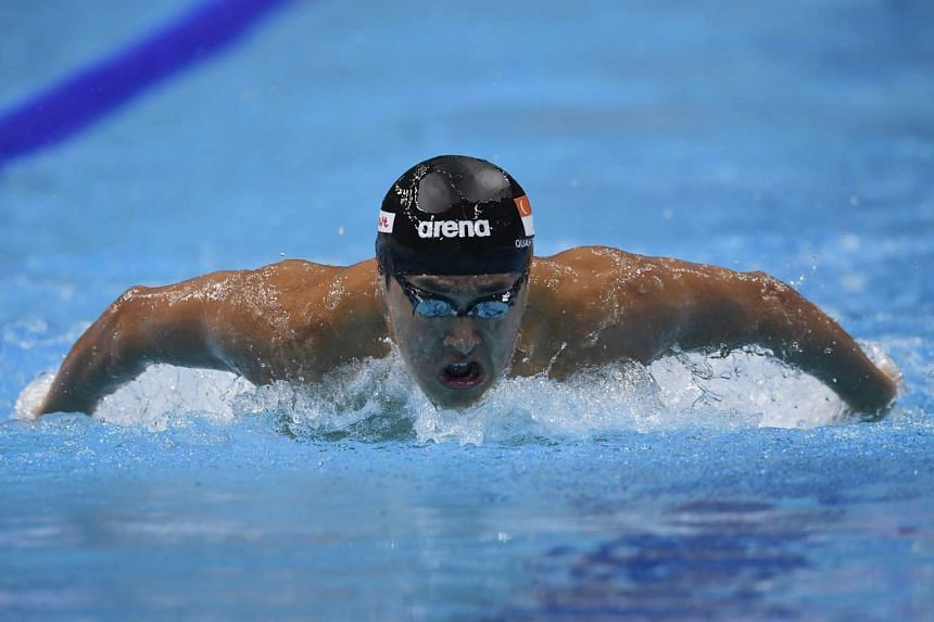 Quah Zheng Wen finished overall 18th in the 200m fly heats in the Fina World Championships in Budapest on July 25, 2017, missing out on a semi-final spot by a mere 0.05sec.