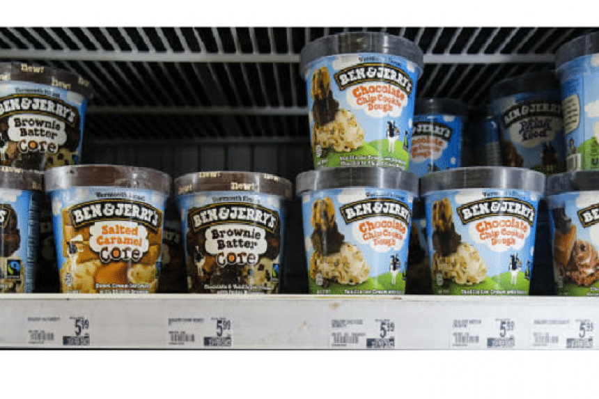 A 2016 file photograph of Ben & Jerry's ice cream. Some flavours from the Vermont ice cream company, known for its family-friendly image and environmental advocacy, have been tested positive for trace amounts of glyphosate, the herbicide in the pes