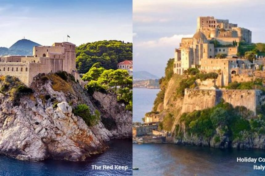 It did not make the list, but this holiday property in Ischia, Italy, could be the place that inspired The Red Keep.
