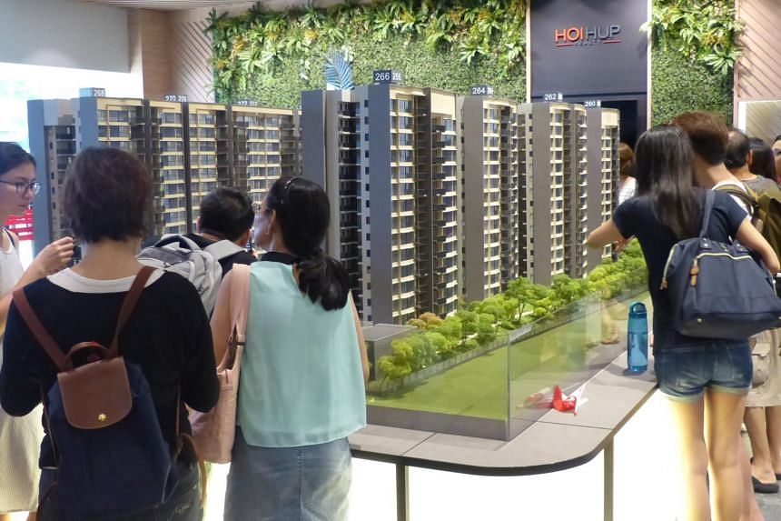 A building model of Hundred Palms Residences Execute Condominium Project.