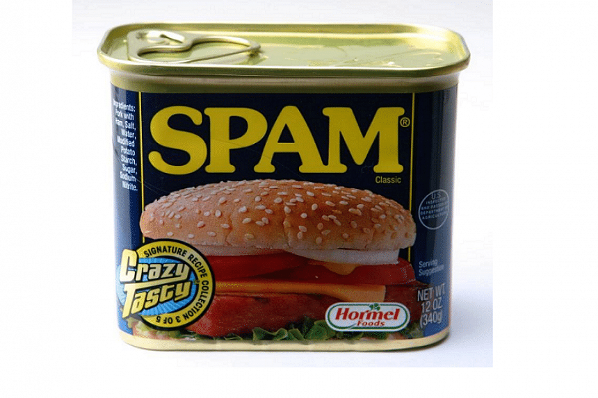Spam Tshirt meat in a tin