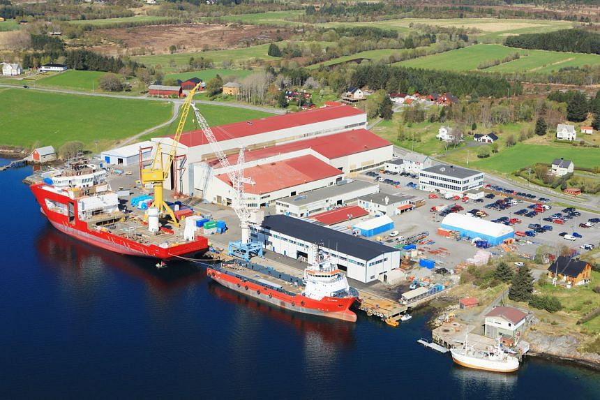 The Vard Aukra shipyard in Norway. The shipbuilder points to restructuring and other costs and a foreign exchange hit for its net loss. But it has also shown an improvement in its order book when compared with last year.