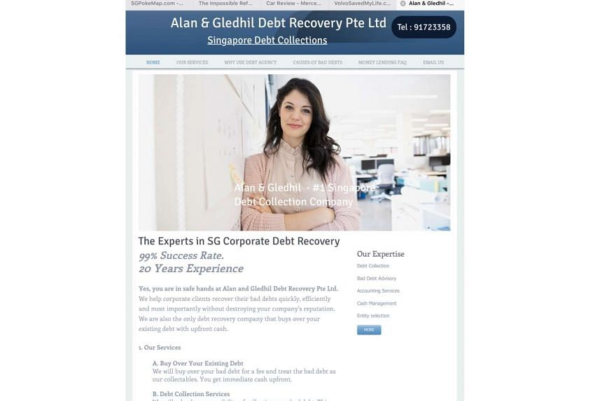Alan & Gledhil Debt Recovery registered its website earlier this month and started marketing its services online. The site now appears to have been taken down.