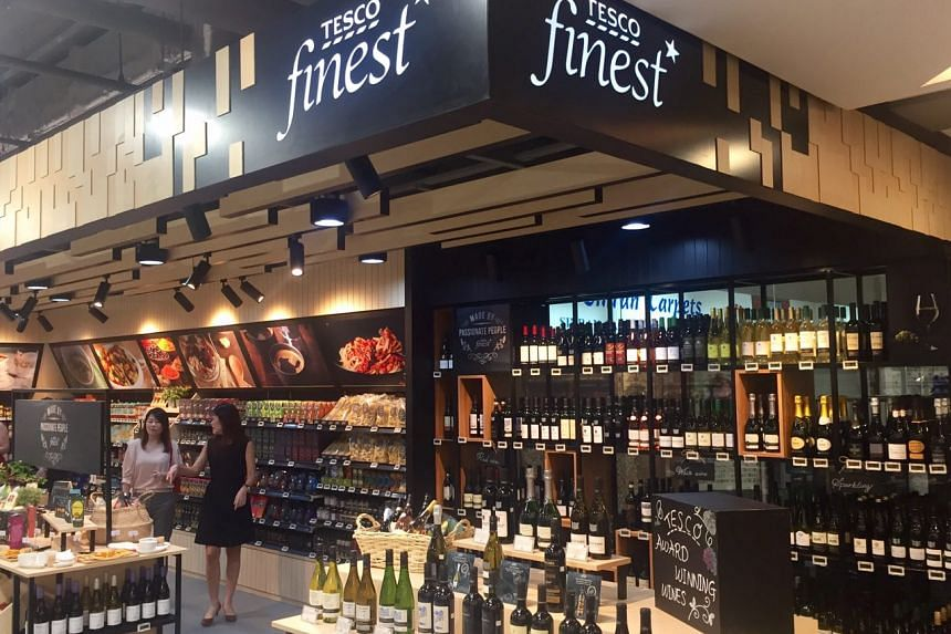 A space at the FairPrice Finest outlet in Bukit Timah Plaza has been set aside as a Tesco finest store, featuring about 150 specially curated Tesco products exclusive to the outlet.