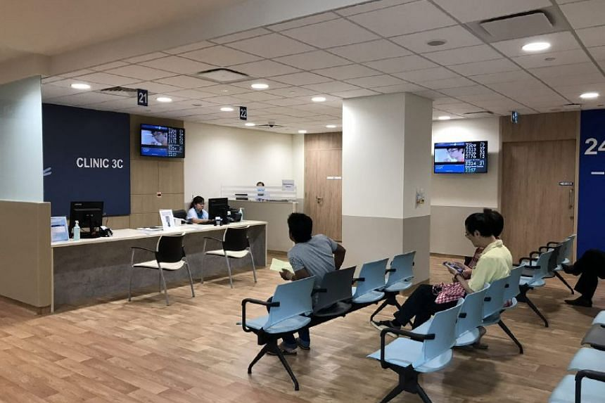 The clinics in Pioneer Polyclinic are colour-coded to make it easy to recognise which floor each patient is supposed to be on. All supporting services such as drawing blood are also on the same floor