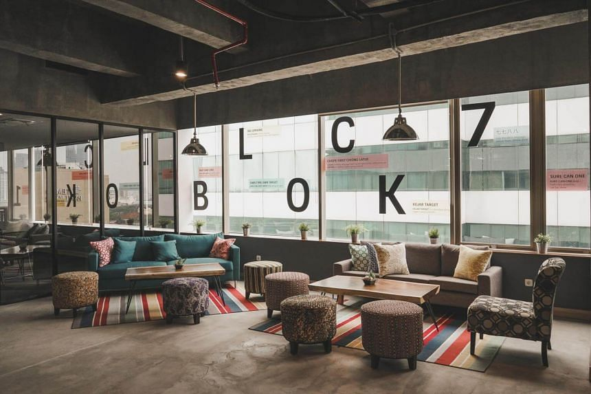 The photo shows the new Block71 Jakarta start-up hub in the Indonesian capital, a partnership between the National University of Singapore's enterpreneurial arm NUS Enterprise and Indonesian conglomerate Salim Group.