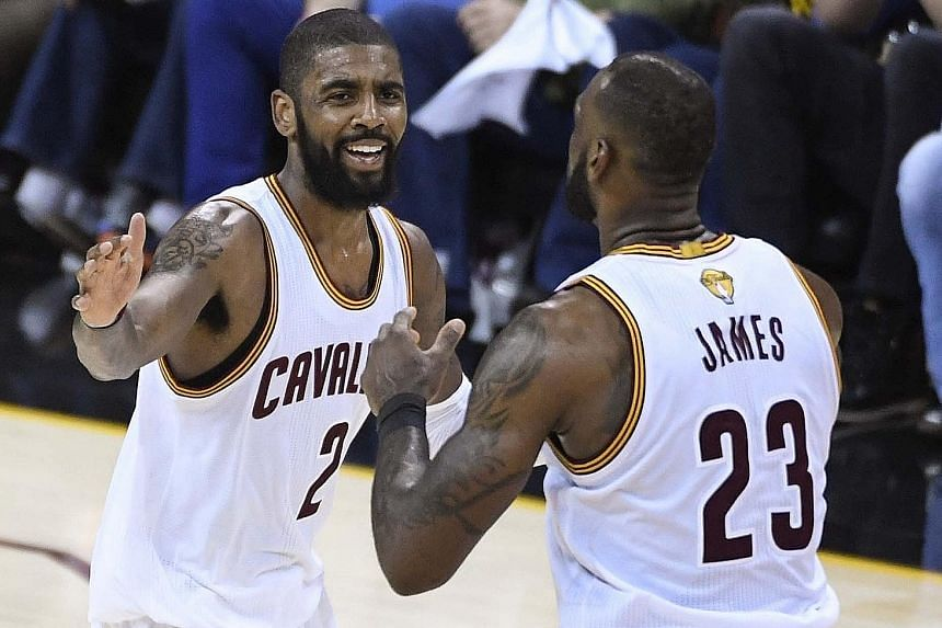 "Cleveland Cavaliers stars Kyrie Irving and LeBron James may not be team-mates soon but James does not appear to back a report that he is ""eager"" to see the guard go."