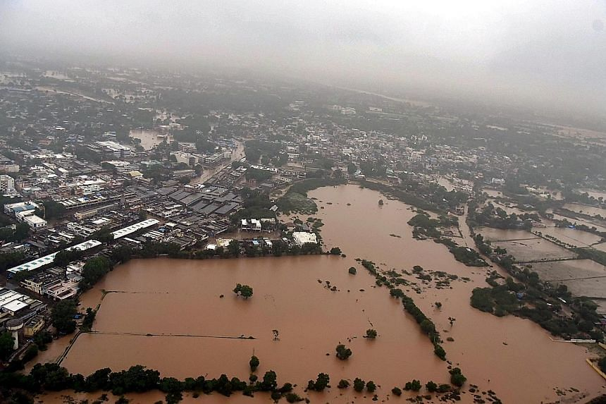 A total of 350 villages in Banaskantha district in Gujarat are waterlogged and crops have been affected.