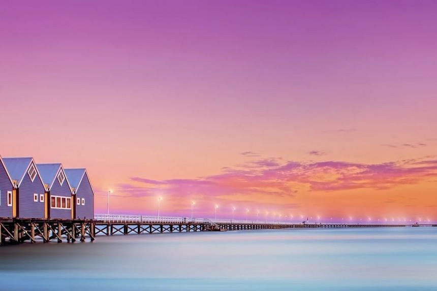 Visit Busselton jetty, the longest wooden jetty in the world that stretches 2km out to sea