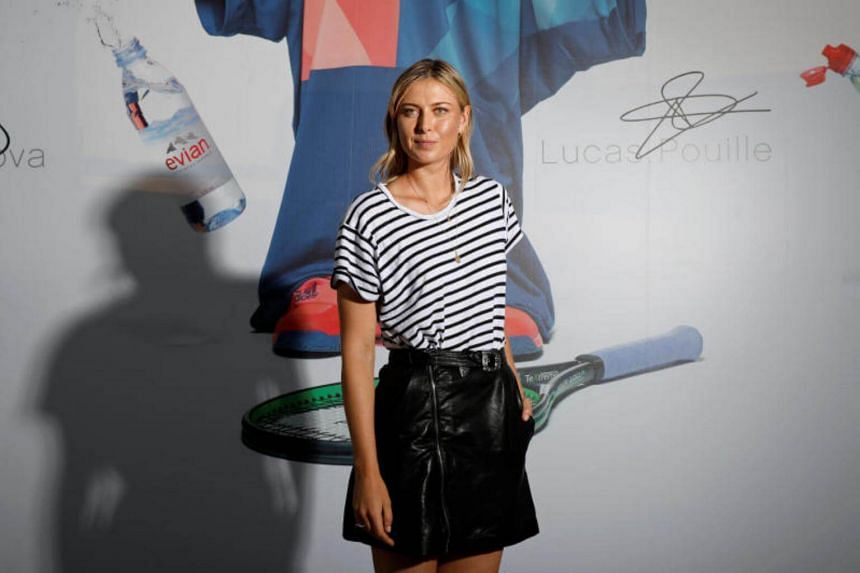 Maria Sharapova of Russia poses for a photo at a promotional event for the upcoming French Open tennis tournament in Paris, France on May 23, 2017.