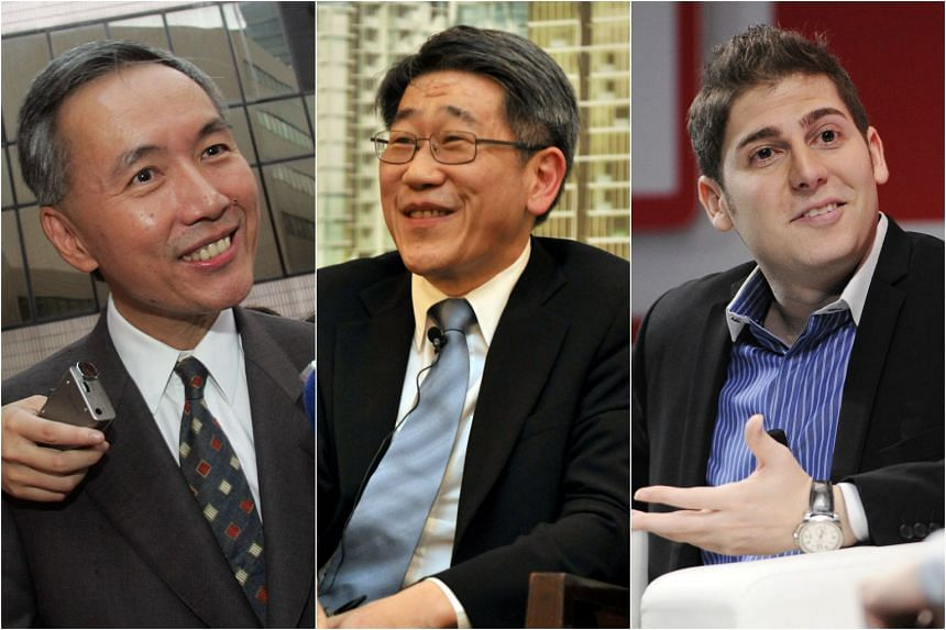 (From left) Robert Ng, Philip Ng, and Eduardo Saverin topped the Forbes Singapore Rich List 2017.