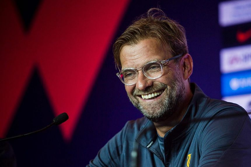 Liverpool manager Jurgen Klopp attends a press conference of the Premier League Asia Trophy football tournament in Hong Kong on July 21, 2017.