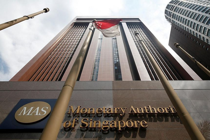 A view of the Monetary Authority of Singapore's headquarters in Singapore on June 28, 2017.