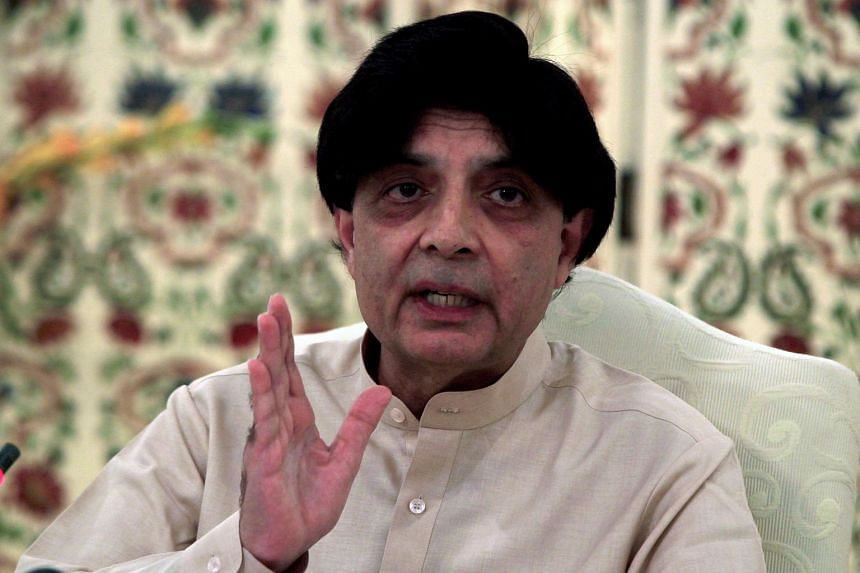 Pakistan's Interior Minister Chaudhry Nisar Ali Khan attends a news conference in Islamabad, Pakistan on May 24, 2016.