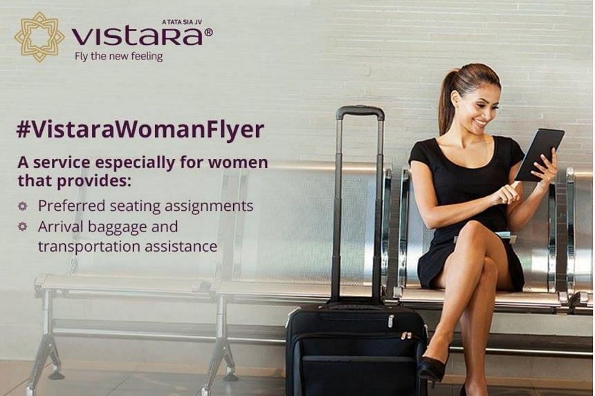 With its Woman Flyer service, Vistara has begun offering to help women flying solo.