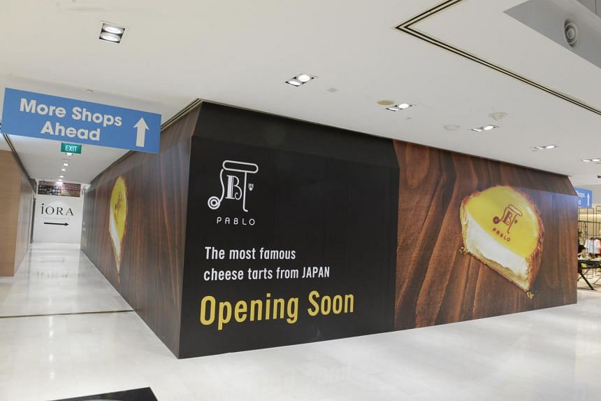 The first Pablo Cheese Tarts outlet in Singapore will open at Wisma Atria.
