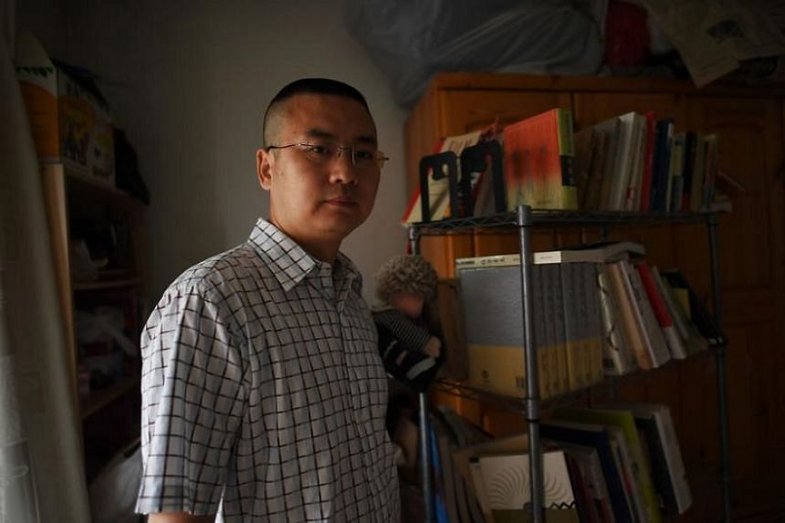 Writer and former professor Qiao Mu at his home in Beijing in this photograph taken on July 21, 2017.