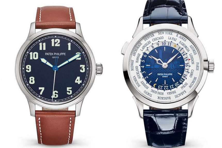 Two of the nine New York 2017 Special Edition timepieces produced by Patek Philippe for its The Art Of Watches Grand Exhibition.