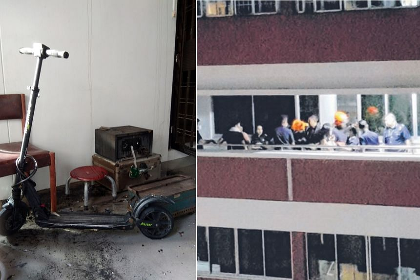 A mother and her two children escaped their Chua Chu Kang flat when a fire sparked by an electric scooter's battery broke out in the wee hours of Friday (July 28).