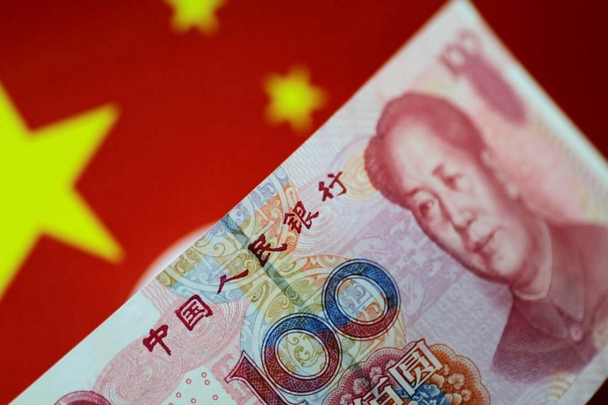 A China yuan note is seen in this illustration photo on May 31, 2017.