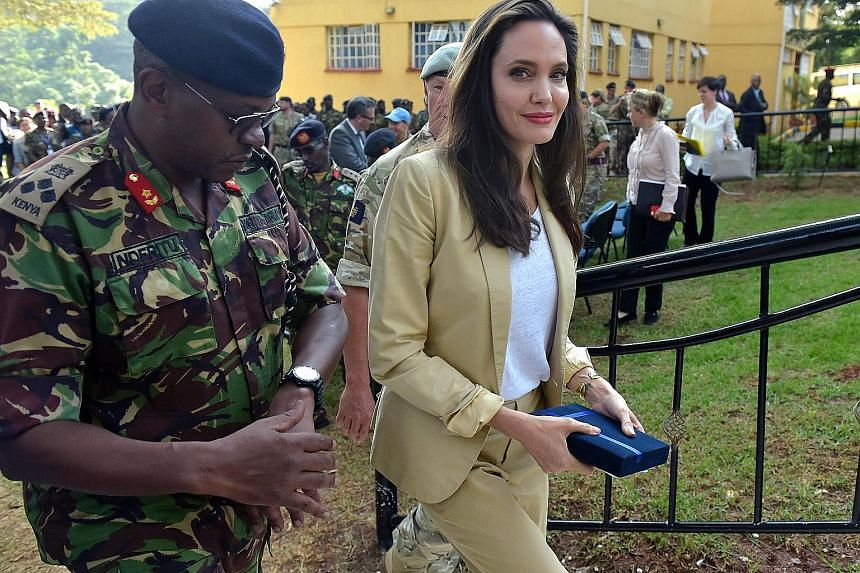 Angelina Jolie visiting Nairobi, Kenya, last Thursday as part of her role as a UNHCR special envoy.