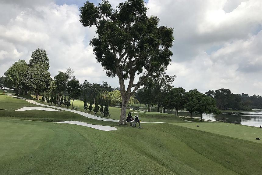 The view from the first green after an eight-month restoration period in which SICC's Bukit Course was closed to facilitate the construction of a new buggy track, the installation of bunker lining and the re-turfing of the green collars and tee boxes