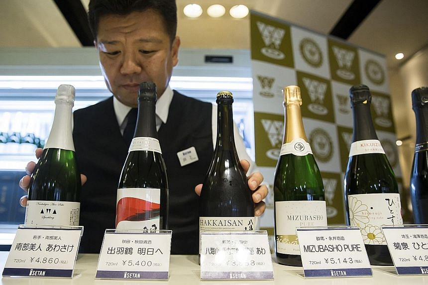 Nanbu-Bijin brewery's Awasake (above left) was voted the best sparkling drink at the world's biggest sake competition in Tokyo last month.