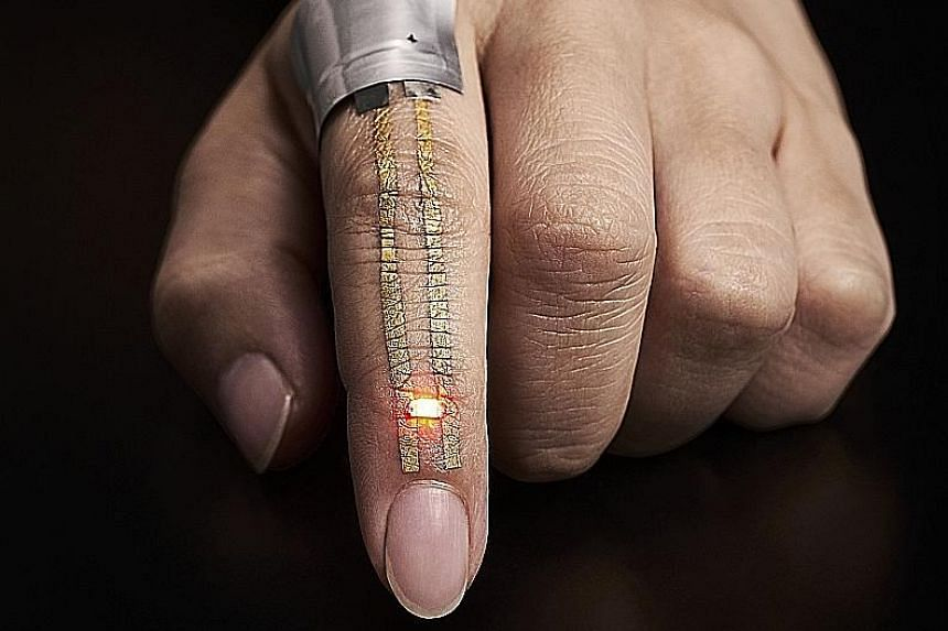 Researchers have developed a hypoallergenic electronic sensor which can be worn on the skin for a week, and is so light and thin that users forget they even have it on. The elastic electrode constructed of breathable nanoscale meshes could hold the k