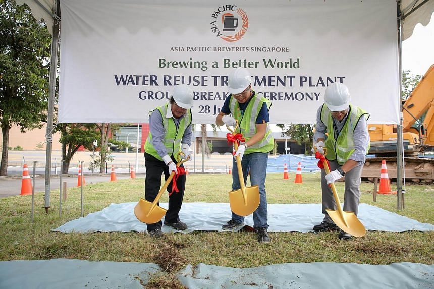 Ground-breaking ceremony of APB Singapore's Water Reuse Treatment Plant.