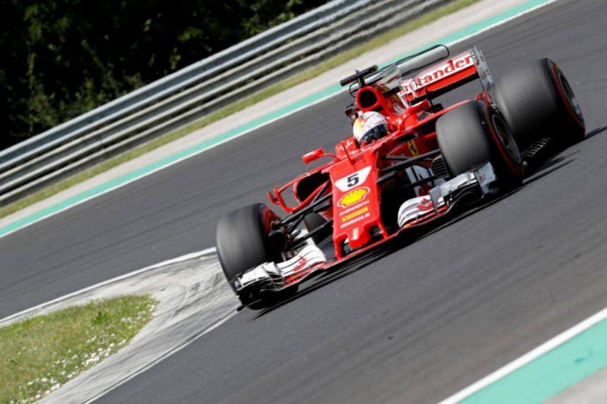 Ferrari's Sebastian Vettel during practice on July 28, 2017.