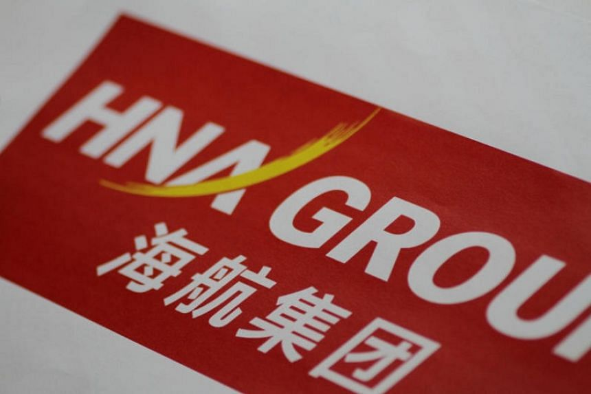 The HNA Group logo is seen in this illustration photo on June 1, 2017.