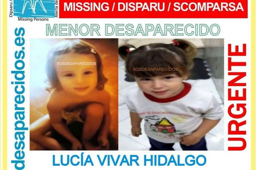 A search poster put out by the Spanish authorities.