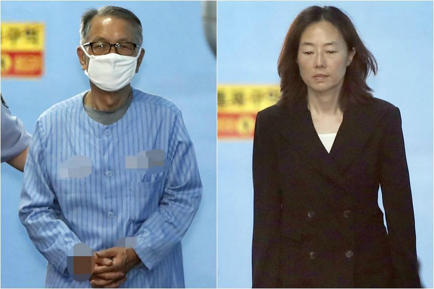 Former Chief of Staff Kim Ki choon (left) and Former culture minister Cho Yoon Sun were sentenced to prison for blacklisting artists.