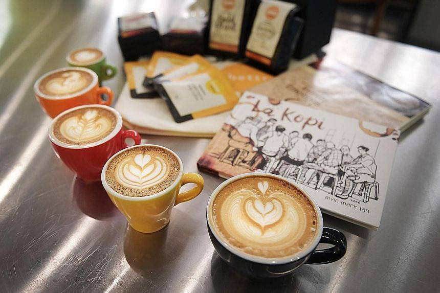 Latte art on a flat white at Bettr Barista, which will be offering a cup of coffee for free with four stamps collected at the festival as part of DBS Bank's Live Kind passport.