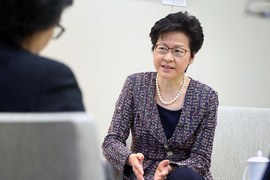 Mrs Carrie Lam's choice of Singapore as her first official destination is seen as an effort to reaffirm ties with the Republic after Hong Kong Customs seized Singapore Armed Forces military vehicles in November last year.