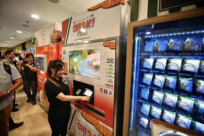 Cheers' first unmanned and cashless concept store at Nanyang Polytechnic uses retail technologies such as vending machines that track stock levels and self-checkout counters. Customers enter the shop using a QR code generated by a mobile app. The out