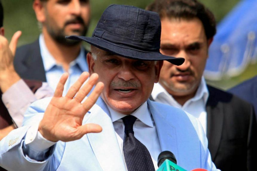Shahbaz Sharif, brother of Pakistan's Prime Minister Nawaz Sharif, gestures after appearing before a Joint Investigation Team in Islamabad, on June 17, 2017.