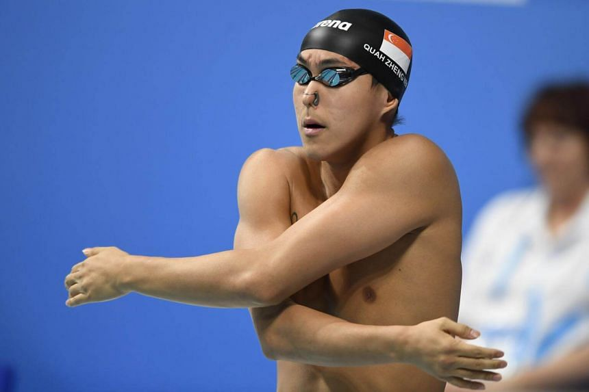 Singapore's Quah Zheng Wen clocked 25.58sec in the seventh and final heats at Budapest's Danube Arena, finishing 30th overall in the 50m backstroke heats.