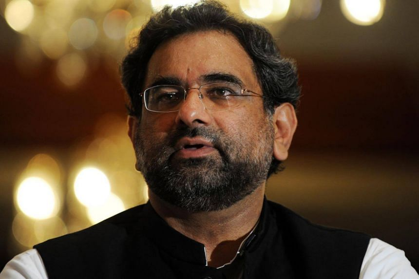 Shahid Khaqan Abbasi, the then-chairman of Pakistan's Airblue airline, at a press conference in Islamabad, on July 30, 2010.