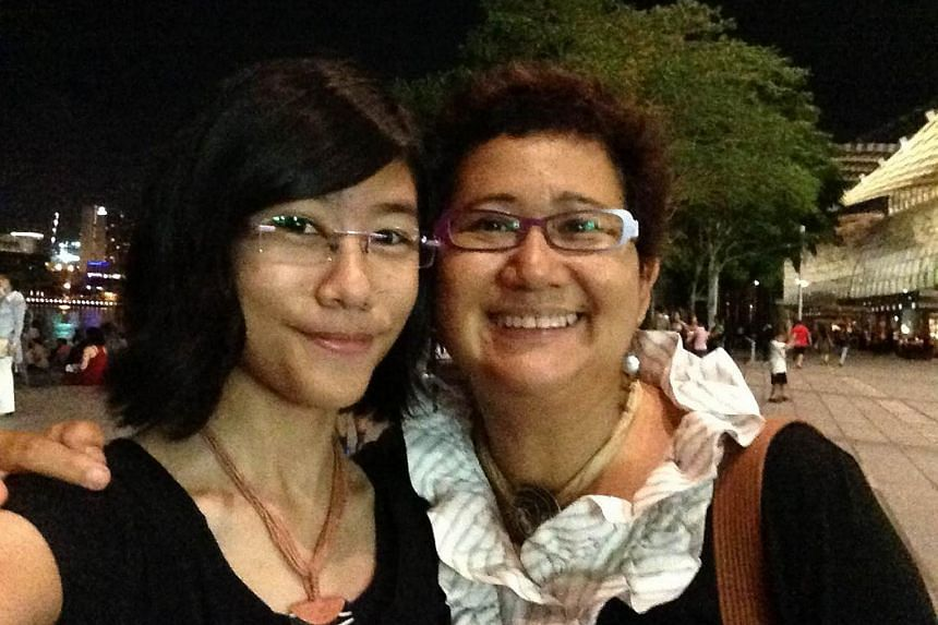 Bowler Adelia Naomi Yokoyama (seen here in 2013 with her mother Sharifah Masturah Shahab) won the women's masters gold at the Deaflympics on July 29, 2017.