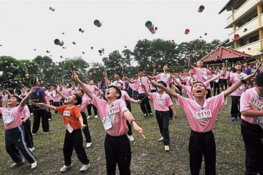 Malaysians pursue various feats to get their name into the Malaysia Book of Records from the largest diabolo participation.