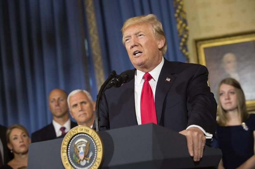 US President Donald Trump speaks during a press conference on healthcare at the White House on July 24, 2017.