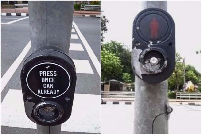 The sticker has been removed by Malaysian police, who called it an act of vandalism.